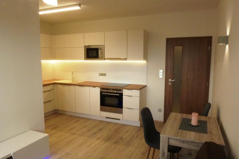 Exkluzivní nabídka pronájmu zcela nového bytu 1+kk ve Zlíně - Jižní Svahy - Zelinova ulice